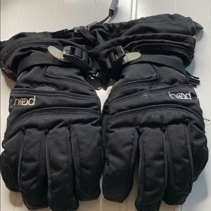 Head Black Ski Gloves  Sz - M